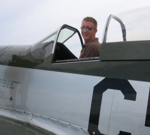 "Tim in the P-51D Mustang ""Lady Alice"""